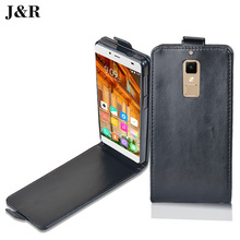 J&R Leather Case For Elephone S3 Vertical Magnetic Case For Elephone S3 Filp Cover Fashion mobile Phone Bags & Cases(China)