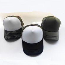 Summer Adult Mesh Sport Trucker Hats Camo Army Green Blank Men s Baseball  Caps 5 panels Snapback Hats Casquette Gorras Visor f6546a916af0