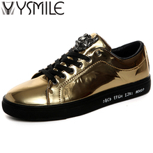 2017 High quality fashion men casual shoes brand superstar gold wedge male designer platform shoes sneakers silver men flats hot