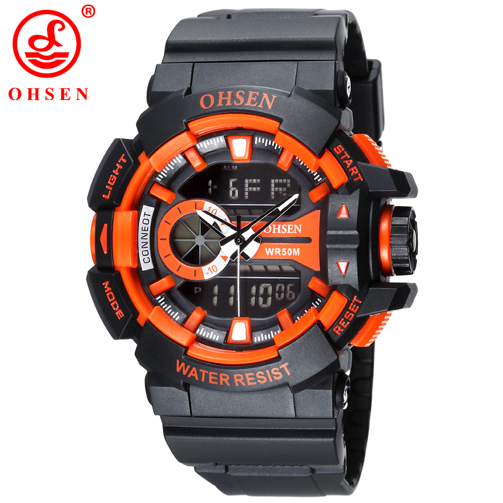 OHSEN Multifunctional Waterproof Mens Sports Watches Quartz LED Digital Analog Dual Time Casual Outdoor Military Wrist Watch<br><br>Aliexpress