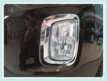 Free shipping! For Kia Sorento 2014 2015 Chrome Front Head fog light lamp cover trim Auto decoration(China)