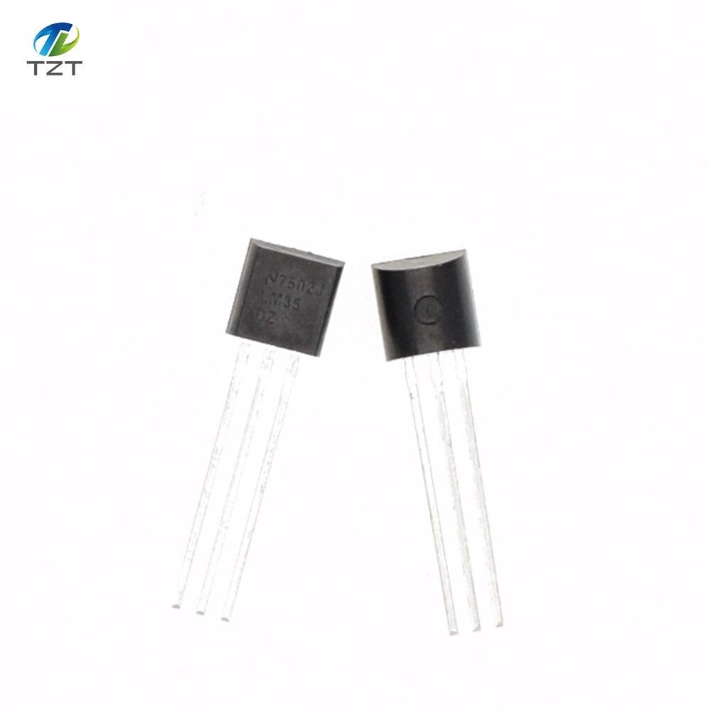 Hot Baru Asli Lm35dz Lm35 To 92 Thermometer Suhu Sensor Ic Untuk Sirkuit Terpadu Presisi Celcius Impedansi Rendah