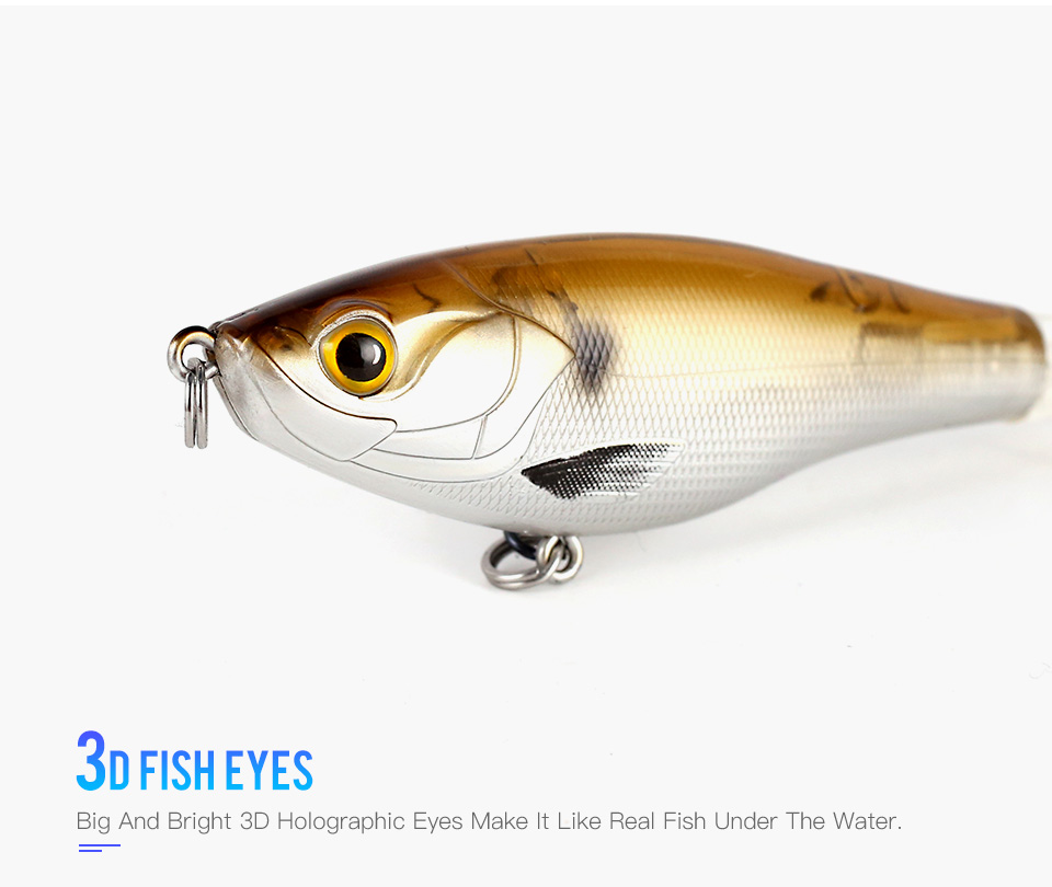 Kingdom 2019 New Whopper Plopper Fishing Lure 10cm 12cm Topwater Hard Baits Popper Soft Rotating Tail Wobblers Artificial Bait (4)