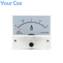 1 pc New 85c1 Current Monitoring 0~2A Analog DC AMP Panel Meter Class 2.5 Pointer Ampere Gauge
