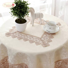 1 Piece European Style Embroidery Lace Tablecloth/ White Hollow Out Tea Table Cloth/ High-grade Household Cloth Free Shipping