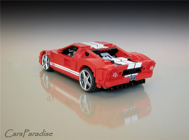 XINGBAO XB-03011 The Red Phantom Racing Car Ford GT-919 Building Block 25