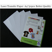 (A4*50pcs) Laser Heat Transfer Printing Paper For Light Textil Only Cheap Paper A4 Thermal Papel Fabric Transfer Paper TL-150R(China)