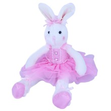 BSTAOFY Dropshipping Well Designed Original Adorable Plush Ballerina Bunny Stuffed Animal Rabbit Doll 38cm/58cm(China)