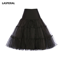 LASPERAL Sexy Long Skirts Tulle Skirt Party Dance Tutu Skirt Women Lolita Petticoat Organza Lace Ball Gown Skirt Faldas Mujer(China)