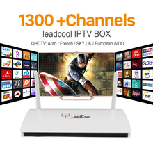 IPTV Streaming Leadcool TV Box Android Wifi 1G 8G French UK Italy Portugal Channels Receiver Europe Arabic IPTV Box Media Player