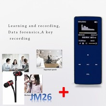 Mini HIFI ONN bluetooth MP3 music Player W6 support music TF card E-Book recording FM Radio wireless bluetooth ONN MP3 player W6