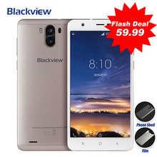 Blackview R6 lite Mobile phone 8MP Dual Rear Camera Android 7.0 5.5HD 1GB RAM 16GB ROM MTK6580 Quad core 3g WCDMA GPS Cell phone(China)