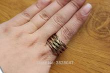 RG138 Neplese Jewelry Ethnic Tibetan Brass Handmade Braided Knitting Open Back Ring or Thumb Ring Adjustable Ring