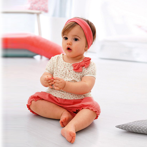 Summer Infant Baby Girl Tops+Short 2Pcs Set Outfit Bow Costume Polka Dots T-shirt 1-3Y<br><br>Aliexpress