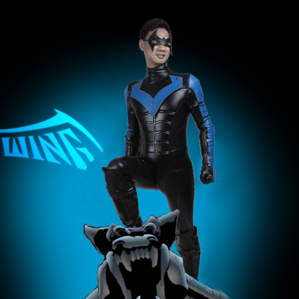 Batman Arkham City Nightwing Robin Cosplay Eyemask Gloves Shoes Cover Props New