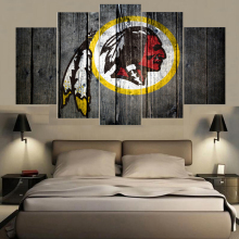 Rugby Washington Redskins Logo Prints Painting Wall Modular Picture Canvas Paintings For Living Room Bedroom Kids Room Poster