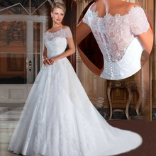 ZGS121 New Arrival Custom Made Wedding Gown pearls vestidos de noiva Western Style Cheap Price Vintage Lace Wedding Dresses 2017