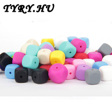 100pc 13mm Pacifier Clip Beads for Baby Chew Food Grade Silicone Soother Teething Necklace Pendant Charms Teeth Massage Teethers