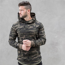 2017 spring new Mens Camouflage Hoodies Fashion leisure pullover fitness Bodybuilding jacket Sweatshirts sportswear clothing(China)