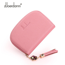 Buy New Designed Women Genuine Leather Card Holder Wallets RFID Blocking Purses Female Zipper Credit Cards Case Zipper Mini Purse for $10.39 in AliExpress store