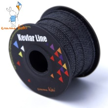 100ft/30m 300lb/500lb Black Kevlar Line Braided Fishing Line Kevlar Fiber Outdoor Power Stunt Kite Line String Cord For Flying