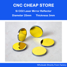 1pc 25mm Si golden plated reflection mirror si reflection mirror CO2 laser mirror for laser engraving cutting machine