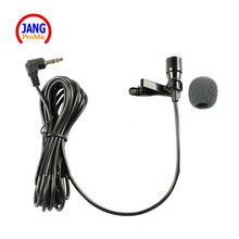 High Quality Lapel Condenser Microphone Lavalier Capacitance Microfone for Driver PC 3.5mm Stereo Jack Line 1.1M Mikrofon