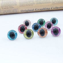 20pcs/lot 13&14&15&18mm plastic clear safety toy cat eyes + glitter Nonwovens + hard washer for plush animal doll findings(China)