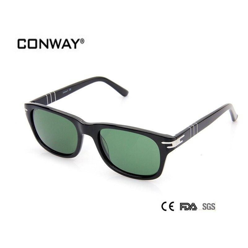 CONWAY 2017 Fashion Acetate Sunglasses Sun Glasses  Men Design Top Quality Goggle  Sunglasses CN0004S-BLACK-G15 lady style<br><br>Aliexpress