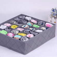 Hot Sale!!30Cell Closet Drawer Wardrobe Bamboo Charcoal Ties Box Divider Organizer Storage