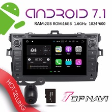 WANUSUAL 8'' Android 7.1 Car Video Players for Toyota Corolla 2006 2007 2008 2009 2010 2011 Auto GPS Navigation Wifi Multimedia