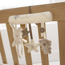 Kawaii Musical Soft Plush Rabbit And Bear Baby Rattle Hanging Toy Stroller Star Hanging Rattle Mobile Products Cute Baby Toys