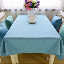 DUNXDECO Modern High Quality Heavy Plain Dyed Linen Cotton Table Cloth Home Store Table Decorative Cover Party Decoration Fabric