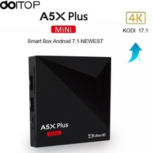 Buy A5X Plus RK3328 Rockchip Android 7.1 Mini TV Box 1GB/8GB 2.4G WIFI 100M LAN USB3.0 4K H.265 pk km8 pro Z28 TV Media Player for $37.80 in AliExpress store
