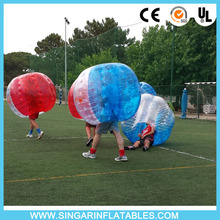 Free shipping 1.0mm TPU 1.8m diameter bubble soccer ball,bubble bumper sports,battle ball for big heavy players(China)