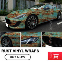 Car Rust Protection Rusty Style Sticker Bomb Rust Vinyl Car Wrap Blue Camouflage Adhesive Film Camo Film 1.52*20m for hatchback