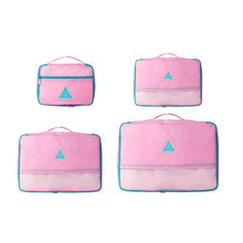 Quality Waterproof Travel Accessories Polyester 4 Pieces One Set Packing Cubes Large Capacity Packing Organizer