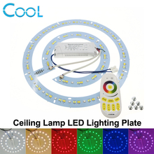 Ceiling Lamp LED Lighting Plate with 2.4G Remote Control Driver RGB + Warm White + White set.(China)