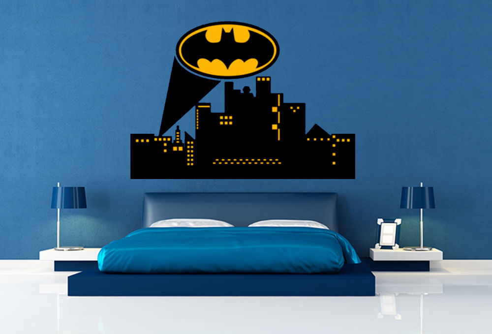Online Get Gotham City Wall Decal Aliexpress Com Alibaba ... Part 88