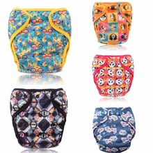 JinoBaby Cloth Baby Diaper Covers Reusable Newborn Baby Diaper Cover (with 1PCS Bamboo Cloth Nappy)
