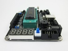 Intelligent robot car 51 single chip microcomputer system panel ultrasonic ranging wireless USB download development board(China)