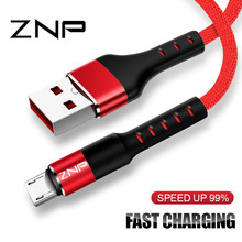 ZNP Micro USB Cable 2.4A Fast Charger Cable Samsung Xiaomi Redmi Note 5 6 LG Data Sync Micro USB Quick Charging Cable