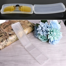 Durable Plastic Transparent Sunglasses Case Clip On Glasses Box Eyewear Protector(China)