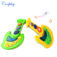 Coolplay CP611A New Educational Toy Guitar Child Musical Instrument Electric Guitar Style Beginner Learning Toy For Kids Baby(China)