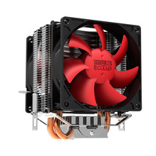 PC Cooler (Red Ocean Mini Plus)Computer CPU Cooler Heatpipe 2PCS 80mm Cooling Fan For Socket 754/939/AM2/AM2+/AM3/FM1/LGA775
