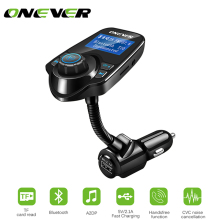 Onever Car MP3 Audio Player Bluetooth FM Transmitter Wireless FM Modulator Car Kit HandsFree LCD Display USB Charger(China)