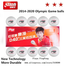 10 Balls Newest DHS 3-Star Dingning D40+ Table Tennis Balls New Material Plastic Poly Ping Pong Balls(China)