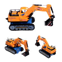 Music&Light 1:32 Scale Excavation Digger Truck Construction Electric Moving Toy Model Funny Gift