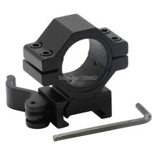 "Hunting 30mm / 25.4mm 1"" Quick Release Scope Mount Ring Adapter 20mm Rail Weaver Picatinny Mounts QD Flashlight Laser Mount"