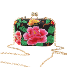 European and American Style Floral Handbag Chain Shoulder Bag Embroidery Ethnic Bags Spain Style Evening Clutch Bags(China)
